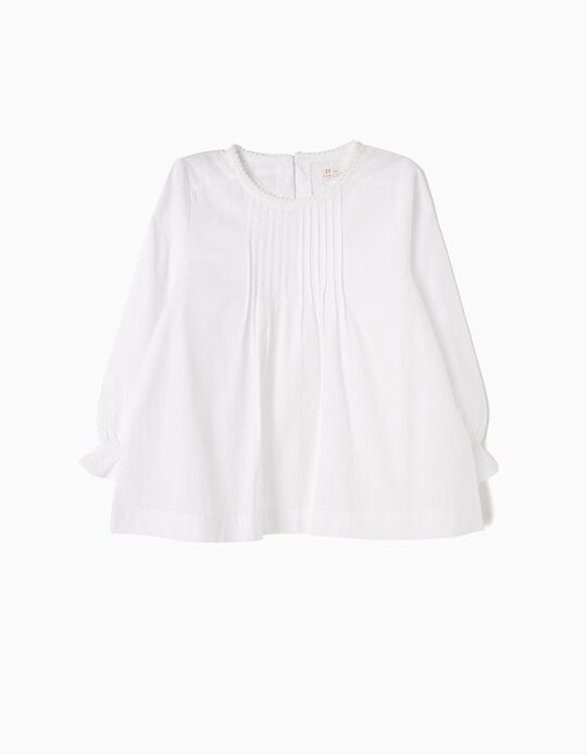 Blusa Branca com Pregas