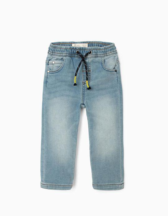 Denim Trousers for Baby Boys, Light Blue