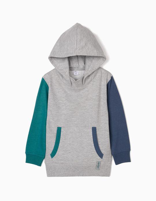 Sweatshirt with Two-Tone Sleeves