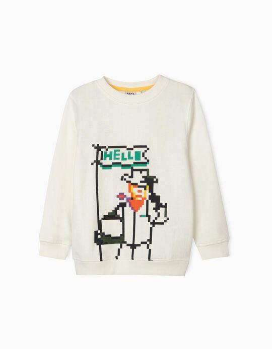 Sweatshirt Cardada com Estampado