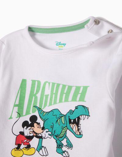 Pijama Manga Comprida e Calças Dino & Mickey