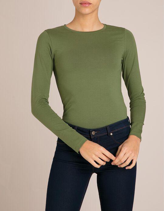 T-Shirt Mangas Compridas Verde