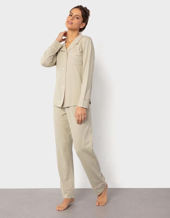 Shirt Pyjama Top, for Women
