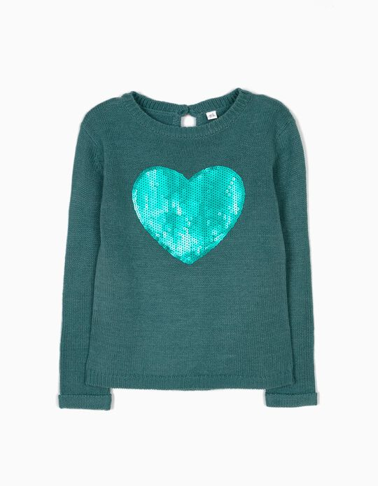 Camisola de Malha Heart Verde