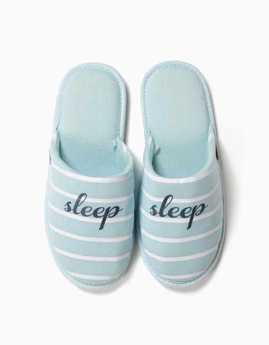 Chinelos de quarto às riscas Sleep