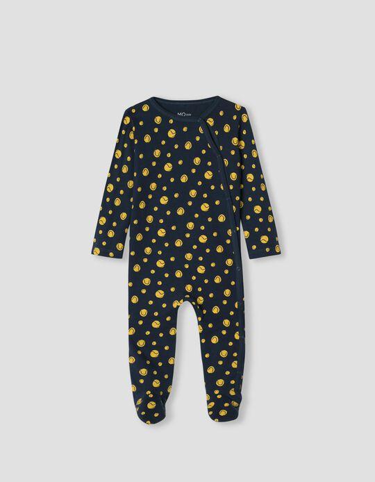 Dotted Sleepsuit, Babies, Dark Blue