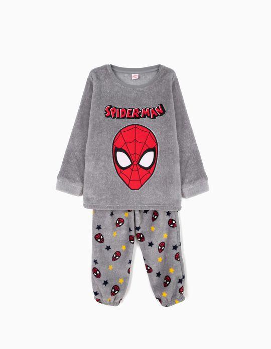Pijama Polar para Menino 'Spider-Man', Cinza