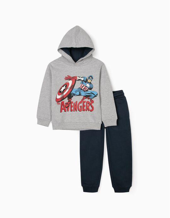 Fato de Treino para Menino 'The Avengers', Cinza/Azul