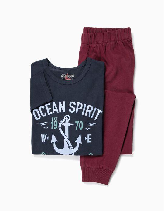 Pijama bicolor náutico