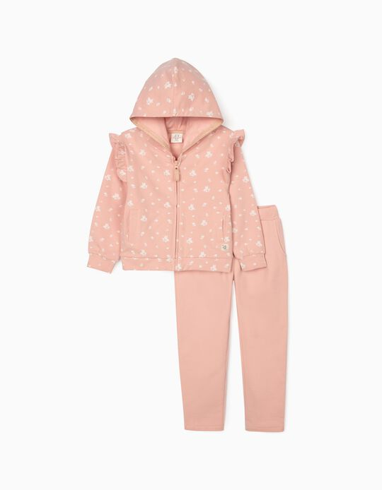 Tracksuit Girls 'Flowers', Pink