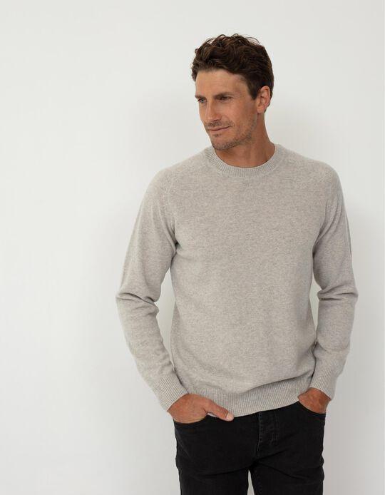 Camisola de Lã Babywool, Homem, Cinza