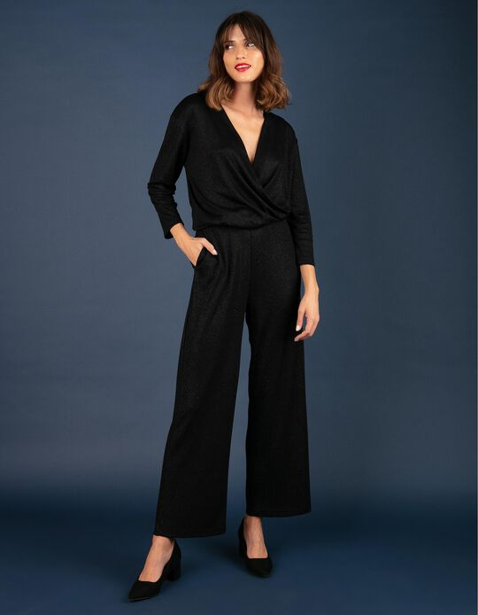 Wrap-over jumpsuit