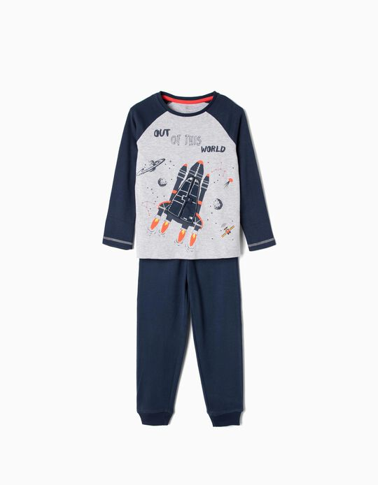 Pyjamas for Boys 'Out of This World', Dark Blue/Grey