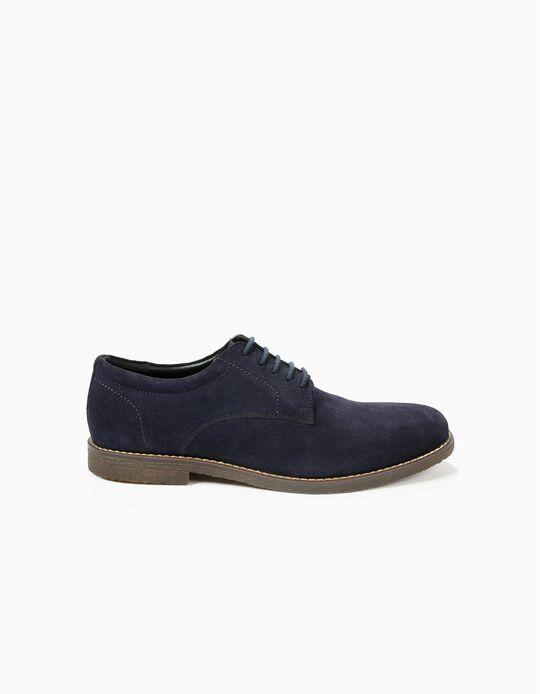 Sapatos derby em camurça
