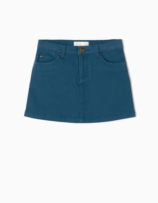 Blue Twill Skirt