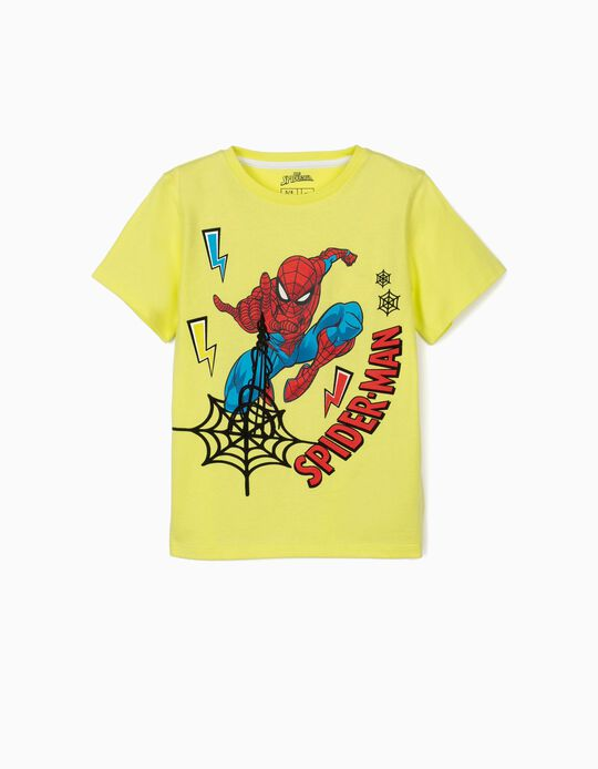 T-shirt para Menino 'Spider-Man', Amarelo Lima