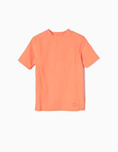 T-shirt de Banho Laranja Anti-UV 60
