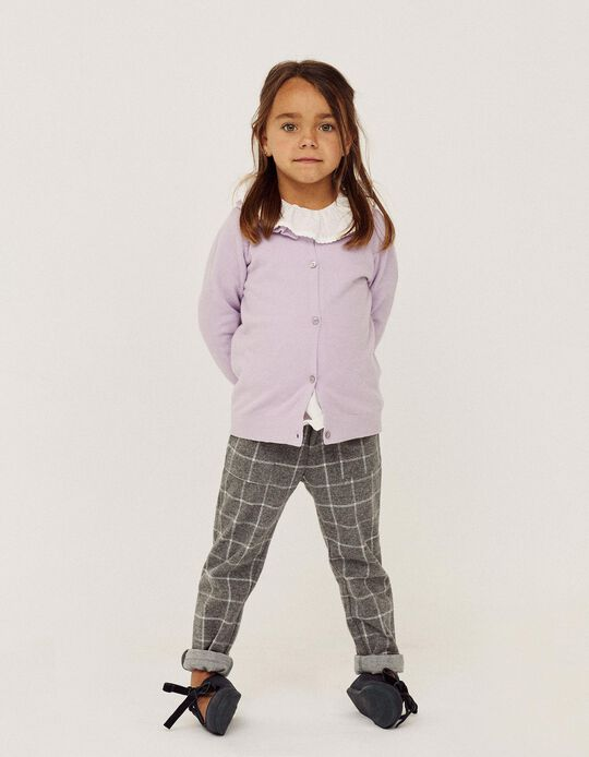 Cardigan with Frills for Girls, Purple