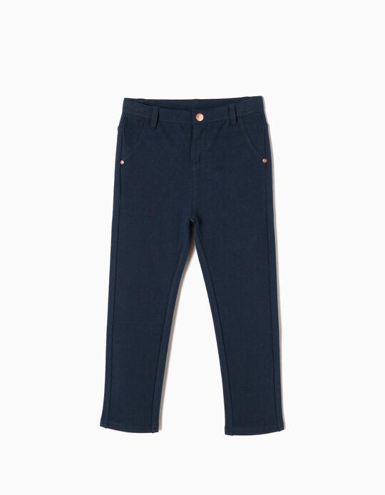 Calças Jersey Azuis