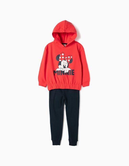 Fato de Treino para Menina 'Minnie', Vermelho e Azul