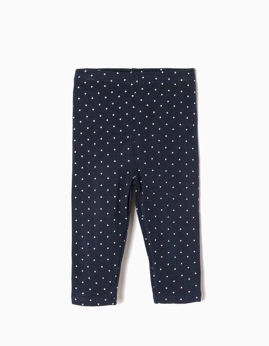 Blue Leggings, Little Dots