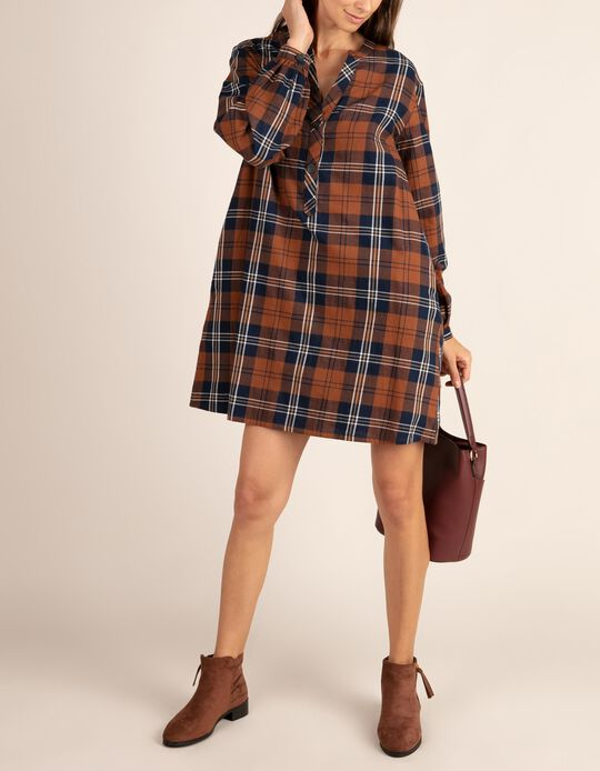 Tartan pattern dress