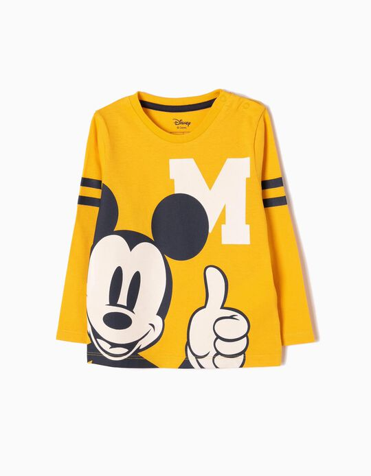 T-shirt Manga Comprida Mickey Amarela