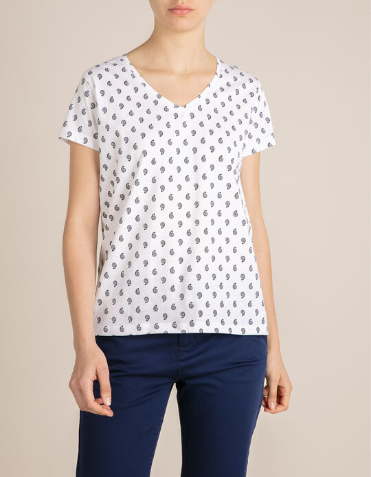 Argyle Pattern T-shirt, for Women