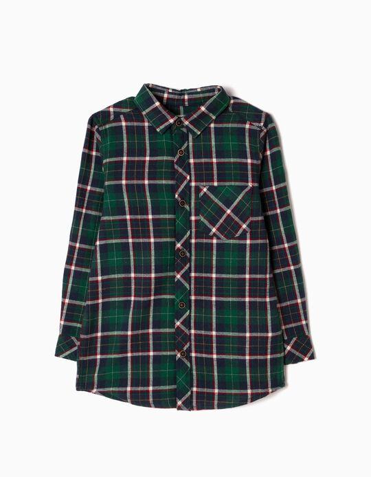 Camisa Flanela Xadrez Verde