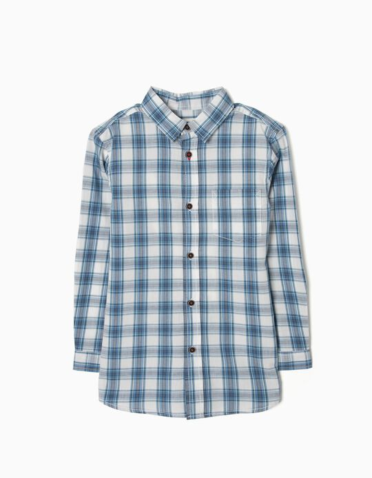 Check Shirt for Boys, Blue