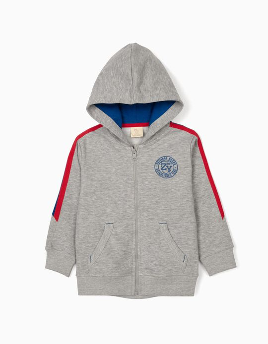 Hooded Jacket for Boys, 'ZY 96', Grey