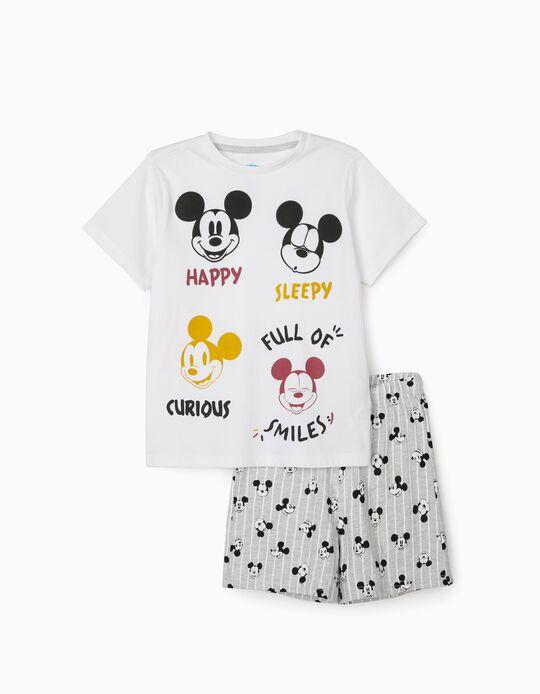 Pijama para Menino 'Mickey', Branco/Cinza