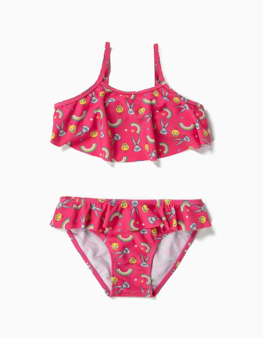 Biquíni para Menina 'Looney Tunes' Anti-UV 80, Rosa