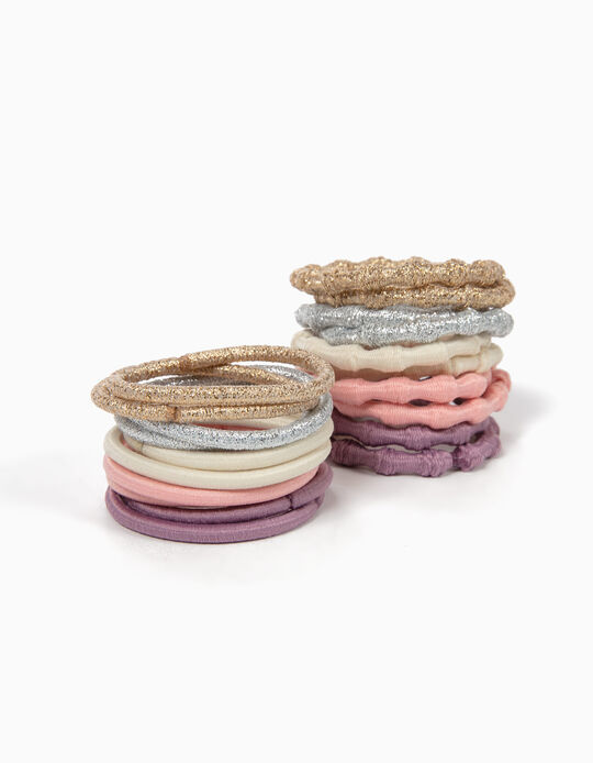 Pack of 20 Plain and Shimmery Hair Ties