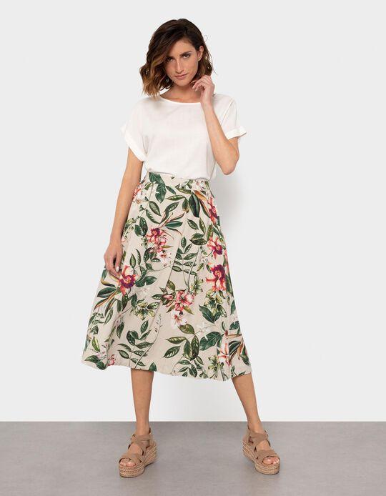 Midi-Length Skirt, Linen