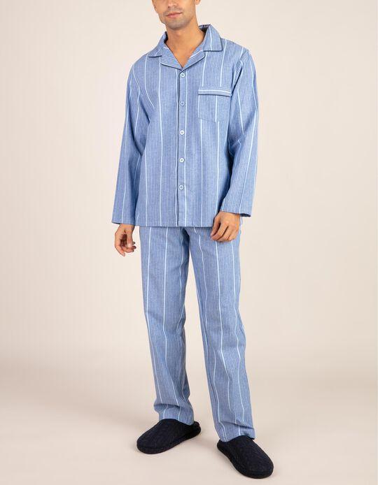 Conjunto de pijama camiseiro riscas