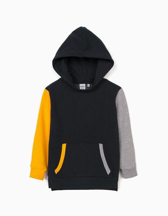 Hooded Sweatshirt, Boys, Dark Blue
