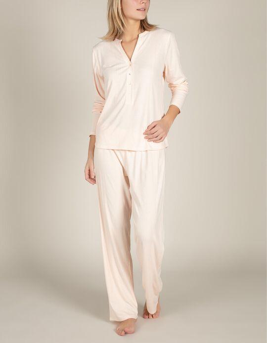 Pijama em algodão texturizado