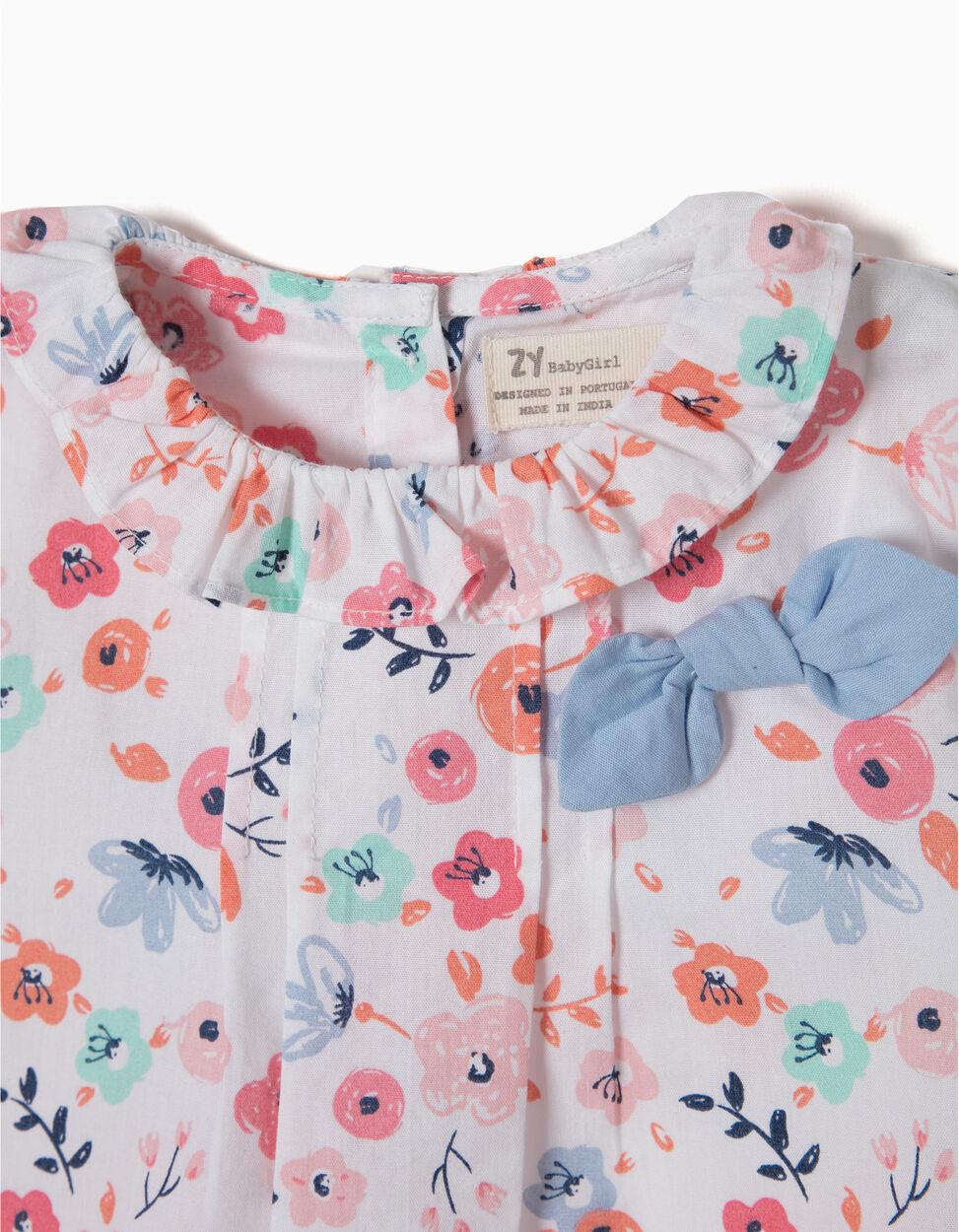 Blusa Flores e Laço