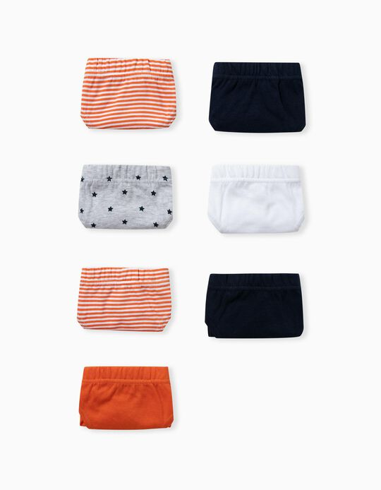 7 Pairs 100% Cotton Briefs for Boys