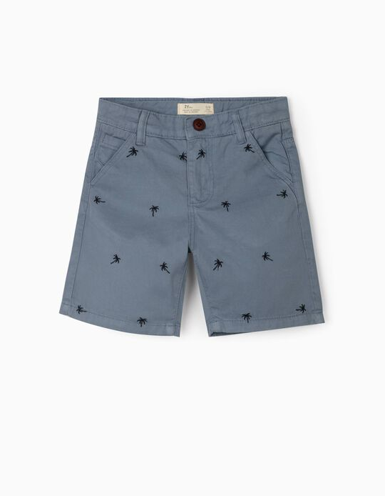 Shorts for Boys, 'Palm Tree', Blue