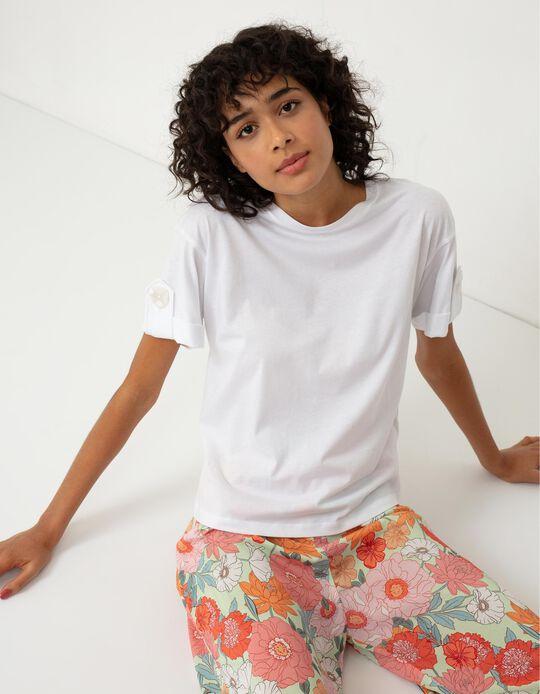 T-shirt with Fold, Women, White