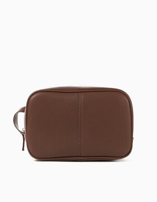 Toiletry Bag for Men, Brown