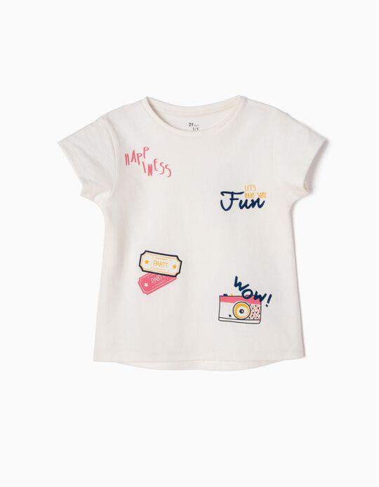 T-shirt Estampada com Textura