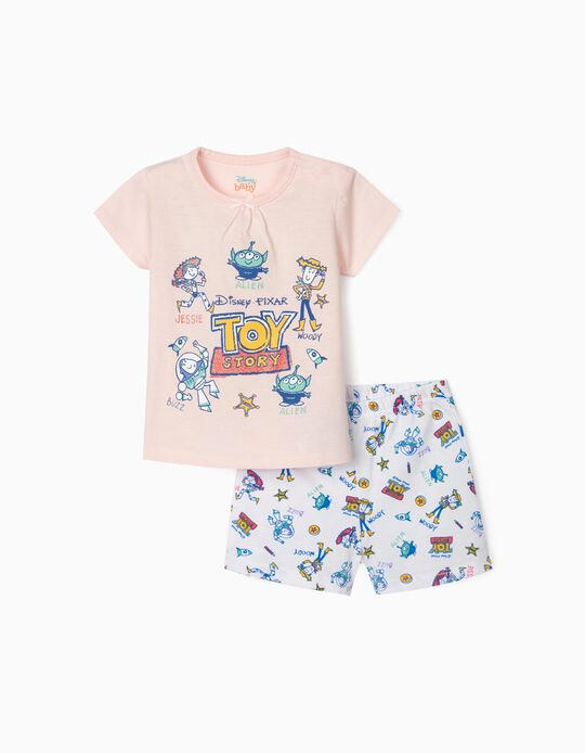Pyjamas for Baby Girls, 'Toy Story', Pink/White