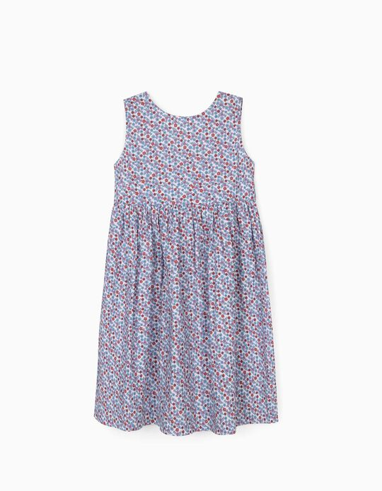 Floral Dress for Girls, White