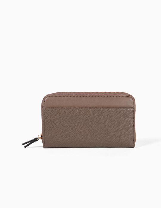 Pebbled-effect wallet