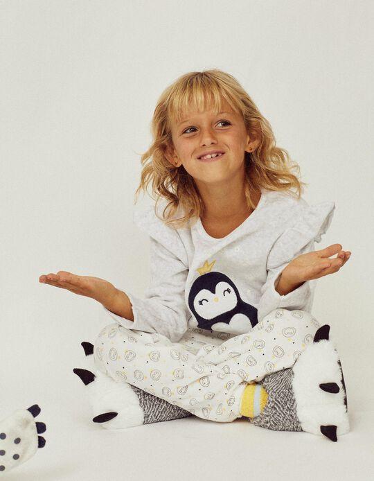 Velvet Pyjamas for Girls 'Glow in the Dark', Grey
