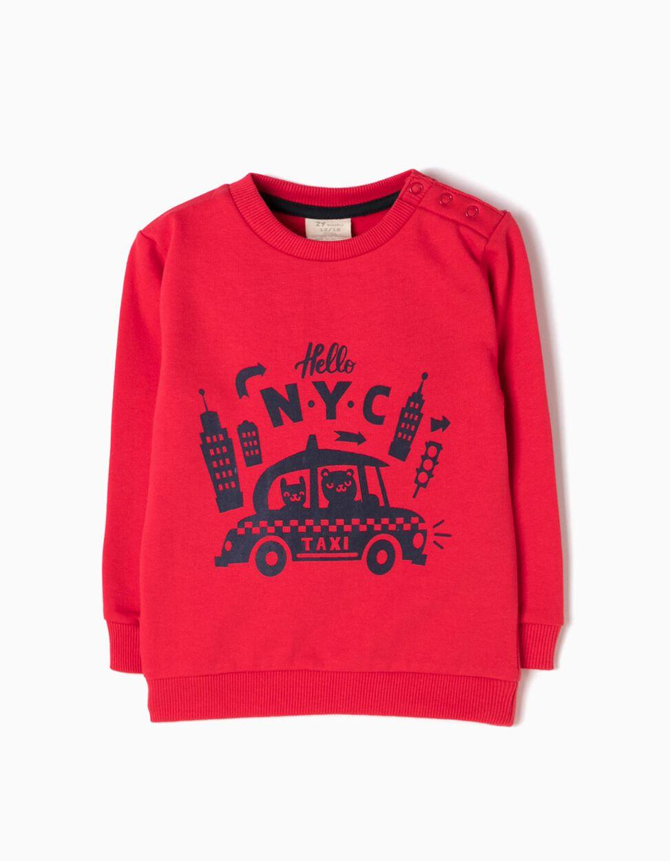 Sweatshirt NYC Vermelha