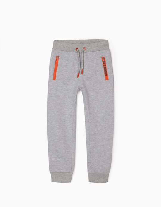 Joggers for Boys, Marl Grey